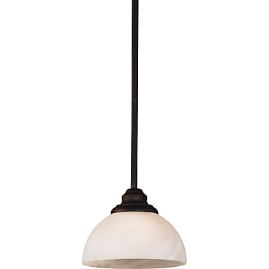 Kenroy Home Hamilton 1 Light Mini Pendant, Bronze Finish