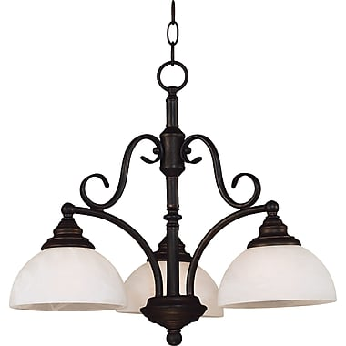 Kenroy Home Hamilton 3 Light Chandelier, Bronze Finish