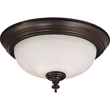 Kenroy Home Wynwood 2 Light Flush Mount, Burnished Bronze Finish