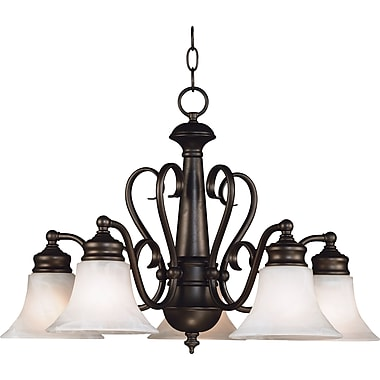 Kenroy Home Wynwood 5 Light Chandelier, Burnished Bronze Finish