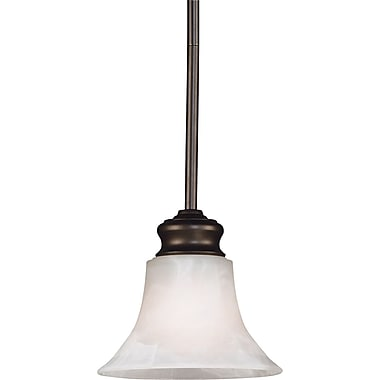 Kenroy Home Wynwood 1 Light Mini Pendant, Burnished Bronze Finish