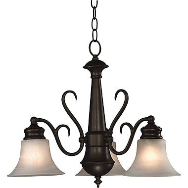 Kenroy Home Wynwood 3 Light Chandelier, Burnished Bronze Finish