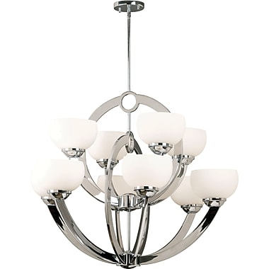 Kenroy Home Nova 10 Light Chandelier, Chrome Finish