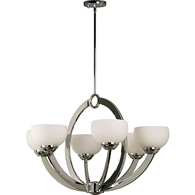 Kenroy Home Nova 6 Light Chandelier, Chrome Finish