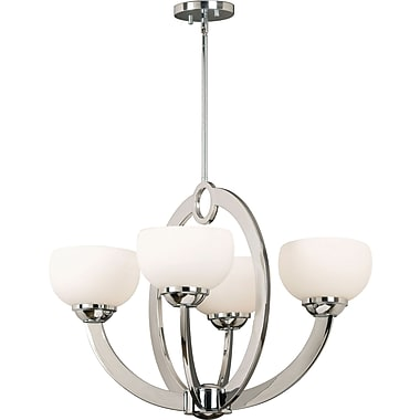 Kenroy Home Nova 4 Light Chandelier, Chrome Finish