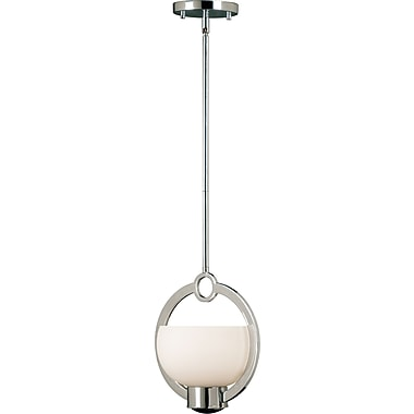 Kenroy Home Nova 1 Light Mini Pendant, Chrome Finish