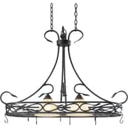 Kenroy Home 2 Light Countryside Pot Rack, Royal Bronze Finish