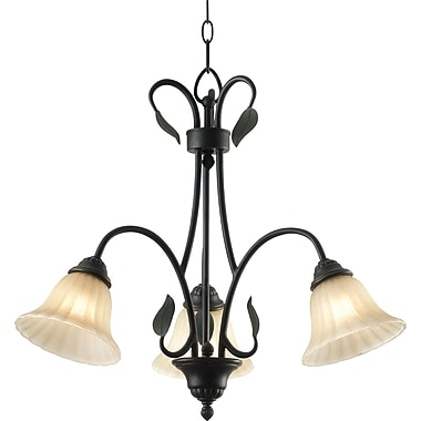 Kenroy Home Countryside 3 Light Chandelier, Royal Bronze Finish