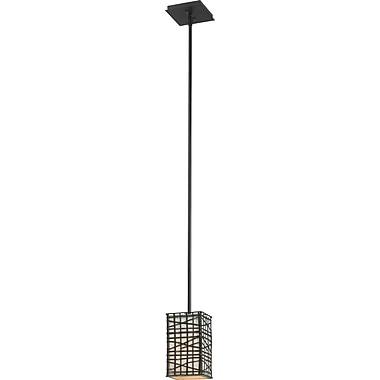 Kenroy Home Fortress 1 Light Mini Pendant, Bronze Finish