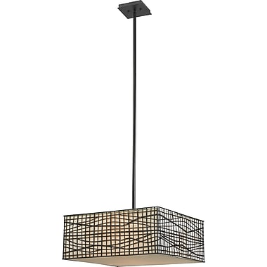Kenroy Home Fortress 3 Light Pendant, Bronze Finish