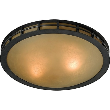 Kenroy Home Pane 2 Light Flush Mount, Forged Graphite Finish