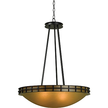 Kenroy Home Pane 5 Light Pendant, Forged Graphite Finish