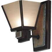 Kenroy Home Clean Slate 1 Light Wall Sconce, Oil Rubbed Bronze Finish with Natural Slate