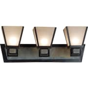 Kenroy Home Clean Slate 3 Light Vanity, Oil Rubbed Bronze Finish
