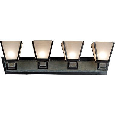 Kenroy Home Clean Slate 4 Light Vanity, Oil Rubbed Bronze Finish