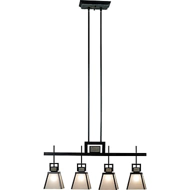 Kenroy Home Clean Slate 4 Light Island Light, Oil Rubbed Bronze Finish