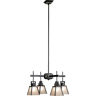 Kenroy Home Clean Slate 4 Light Chandelier, Oil Rubbed Bronze Finish