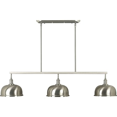 Kenroy Home Alice 3 Light Island Light, Brushed Steel Finish
