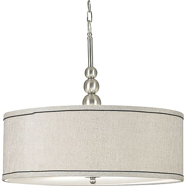 Kenroy Home Margot 3 Light Pendant, Brushed Steel Finish