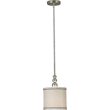 Kenroy Home Margot 1 Light Mini Pendant, Brushed Steel Finish