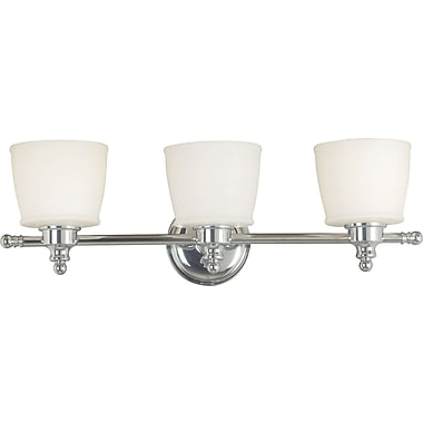 Kenroy Home Riley 3 Light Vanity, Chrome Finish