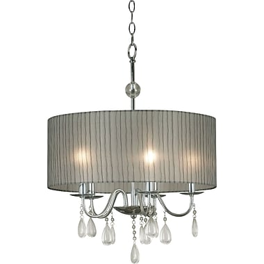 Kenroy Home Arpeggio 5 Light Pendant, Chrome Finish