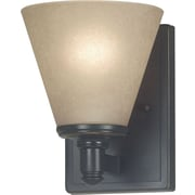 Kenroy Home Tallow 1 Light Wall Sconce, Bronze Patina Finish
