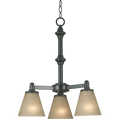 Kenroy Home Tallow 3 Light Chandelier, Bronze Patrina Finish