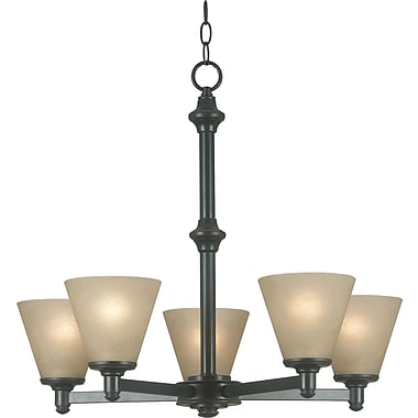 Kenroy Home Tallow 5 Light Chandelier, Bronze Patrina Finish
