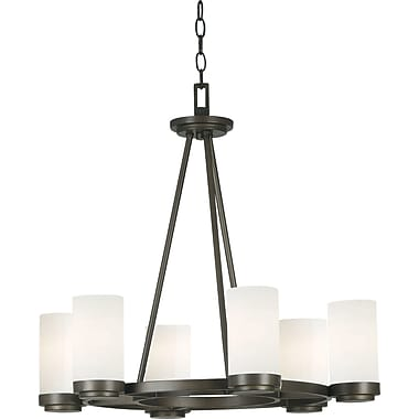 Kenroy Home Toronto 6 Light Chandelier, Satin Bronze Finish