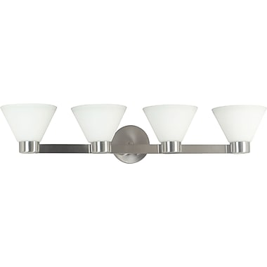 Kenroy Home Maxwell 4 Light Vanity, Brushed Steel Finish