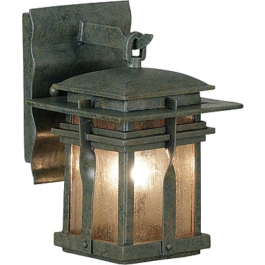 Kenroy Home Carrington 1 Light xS Wall Lantern, Rust Finish