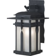 Kenroy Home Carrington 1 Light Small Wall Lantern, Black Finish