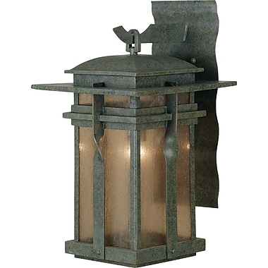 Kenroy Home Carrington 1 Light Small Wall Lantern, Rust Finish