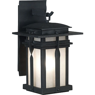 Kenroy Home Carrington 1 Light Medium Wall Lantern, Black Finish