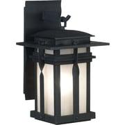 Kenroy Home Carrington 1 Light Medium Wall Lantern, Black Finish