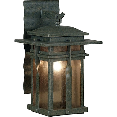 Kenroy Home Carrington 1 Light Medium Wall Lantern, Rust Finish