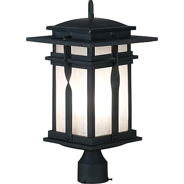 Kenroy Home Carrington Post Lantern, Black Finish