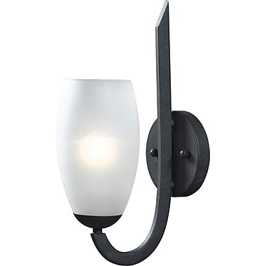 Kenroy Home Mirage 1 Light Wall Sconce, Forged Graphite Finish