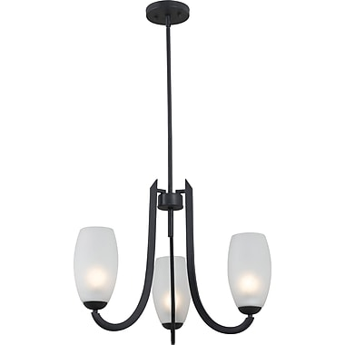 Kenroy Home Mirage 3 Light Chandelier, Forged Graphite Finish