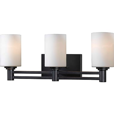 Kenroy Home Slender 3 Light Vanity, Oil Rubbed Bronze Finish