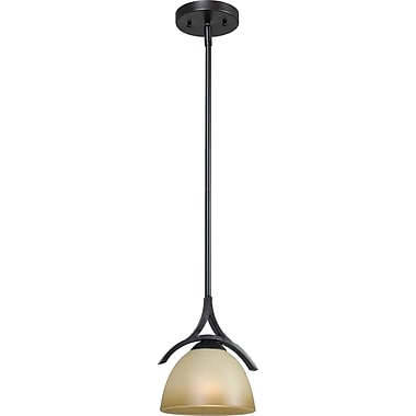 Kenroy Home Cypress 1 Light Mini Pendant, Oil Rubbed Bronze Finish