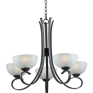Kenroy Home Maple 5 Light Chandelier, Forged Graphite Finish