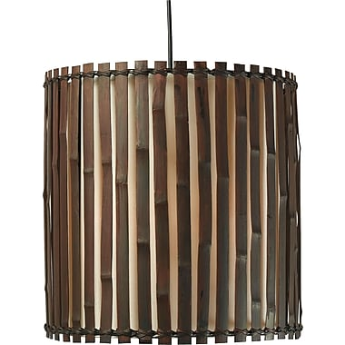 Kenroy Home Grove 1 Light Pendant, Dark Split Bamboo Finish