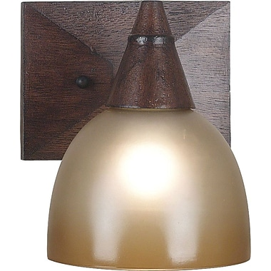 Kenroy Home Kyoto 1 Light Wall Sconce, Dark Oak Finish