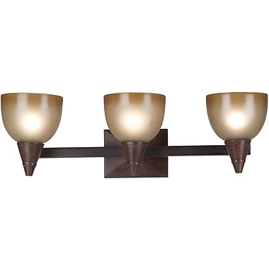 Kenroy Home Kyoto 3 Light Vanity, Dark Oak Finish