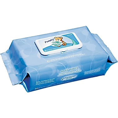Nice Pak® NICA630FW Unscented Pudgies Baby Wipes, 12 Boxes