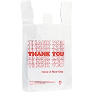 "Integrated Bagging Systems T-shirt Thank You Bag, 13"" L x 12"" W x 7"