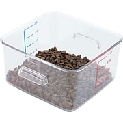"Rubbermaid® 6304 Square Container, 4 qt, 8 3/4""(L) x 4 3/4""(H) x 8.8""(W), Clear"