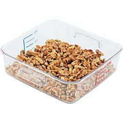 Rubbermaid® 6302 Square Container, 2 qt, 8 3/4(L) x 8.8(H) x 2.7(W), Clear